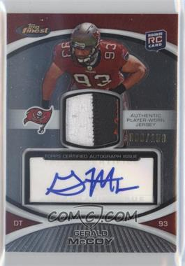 2010 Topps Finest Rookie Patch Autographs #118 - Gerald McCoy /150