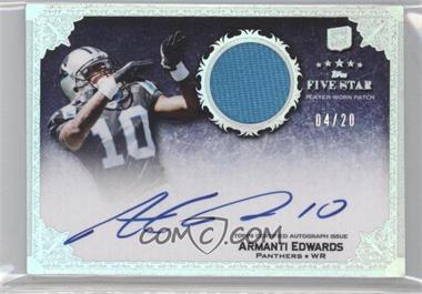 2010 Topps Five Star - [Base] - Rookie Autographed Patch Rainbow #156 - Armanti Edwards /20