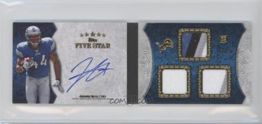 2010 Topps Five Star Futures 3-Relic Autographed Book Gold #3R-JB - Jahvid Best /10