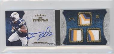 2010 Topps Five Star Futures 3-Relic Autographed Book #3R-RM - Ryan Mathews /25