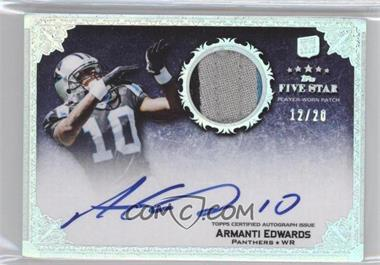 2010 Topps Five Star Rookie Autographed Patch Rainbow #156 - Armanti Edwards /20
