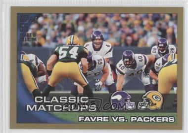 2010 Topps Gold #281 - Favre vs. Packers /2010
