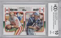 Joe Montana, Tom Brady [ENCASED]