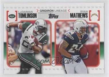 2010 Topps Gridiron Lineage #GL-TM - LaDainian Tomlinson, Ryan Mathews
