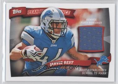 2010 Topps Peak Performance Relics #PPR-JB - Jahvid Best