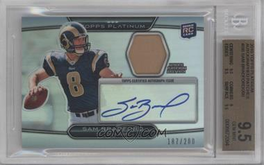 2010 Topps Platinum - Autographed Refractor Patch #ARP-SB - Sam Bradford /200 [BGS 9.5]