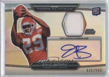 2010 Topps Platinum Autographed Refractor Patch #ARP-EB - Eric Berry /500