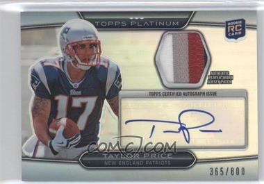 2010 Topps Platinum Autographed Refractor Patch #ARP-TP - Taylor Price /800