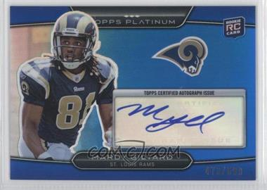 2010 Topps Platinum Autographed Rookie Refractors Blue #135 - Mardy Gilyard /599