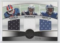 C.J. Spiller, Ryan Mathews, Jahvid Best /25