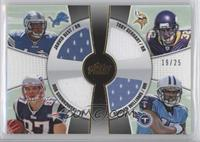 Jahvid Best, Rob Gronkowski, Toby Gerhart, Damian Williams /25
