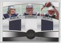 Tom Brady, Rob Gronkowski, Taylor Price #24/25