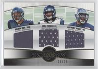 Golden Tate, Earl Thomas, Anthony McCoy /25