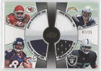Ryan Mathews, Dexter McCluster, Demaryius Thomas, Rolando McClain /25