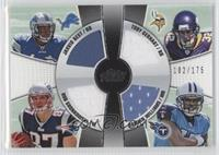 Toby Gerhart, Rob Gronkowski, Jahvid Best, Damian Williams /175