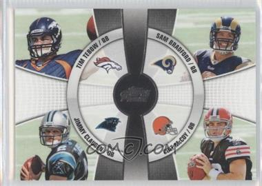 2010 Topps Prime 4th Quarter #4Q-3 - Tim Tebow, Jimmy Clausen, Sam Bradford