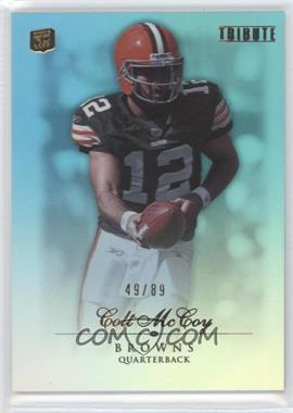 2010 Topps Tribute Blue Rainbow #64 - Colt McCoy /89