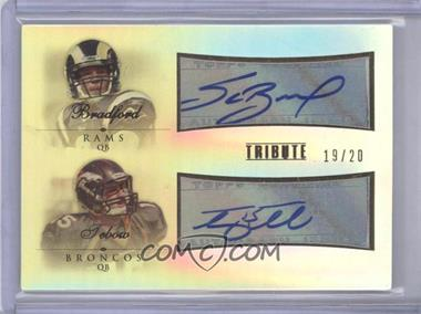 2010 Topps Tribute Dual Autographs #DA-BT - Sam Bradford, Tim Tebow /20