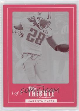 2010 Topps Tribute Framed Printing Plate Magenta #10 - Chris Johnson /1