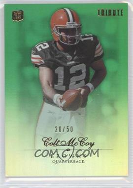 2010 Topps Tribute Green Rainbow #64 - Colt McCoy /50