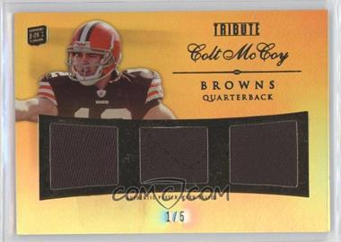 2010 Topps Tribute Triple Relics Gold Rainbow #TR-CM - Colt McCoy /5