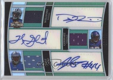 2010 Topps Triple Threads Autograph Relic Combos Emerald #TTARC-15 - Damian Williams, Toby Gerhart, Jahvid Best
