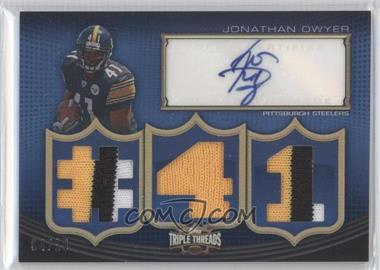 2010 Topps Triple Threads Autographed Relics #TTAR-67 - Jonathan Dwyer /18