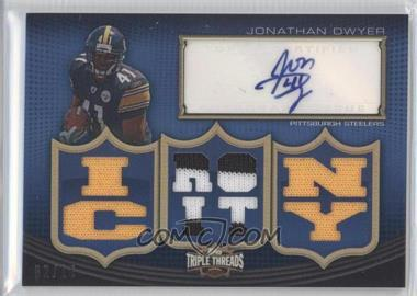 2010 Topps Triple Threads Autographed Relics #TTAR-68 - Jonathan Dwyer /18
