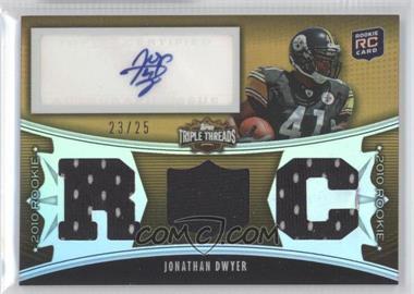 2010 Topps Triple Threads Gold #125 - Jonathan Dwyer /25