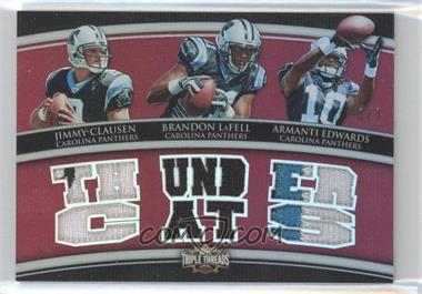 2010 Topps Triple Threads Relic Combos Ruby #TTRC-39 - Jimmy Clausen, Brandon LaFell, Armanti Edwards /3