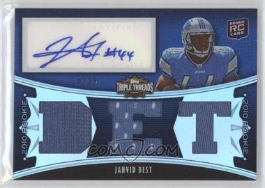 2010 Topps Triple Threads #110 - Jahvid Best /99