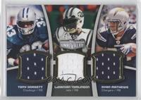 LaDainian Tomlinson, Ryan Mathews, Tony Dorsett /99