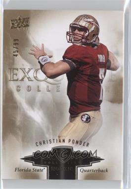 2010 Upper Deck Exquisite Collection - Exquisite Rookies #ER-CP - Christian Ponder /99