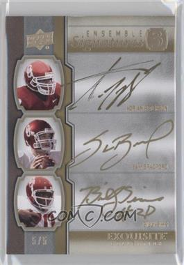 2010 Upper Deck Exquisite Collection [???] #E3-SPB - Adrian Peterson, Sam Bradford, Billy Sims, Adrian Peterson