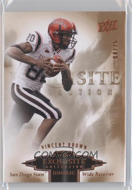 2010 Upper Deck Exquisite Collection [???] #ER-VB - Vincent Brown