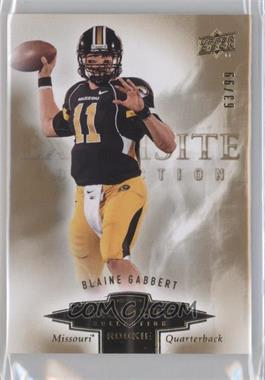 2010 Upper Deck Exquisite Collection Exquisite Rookies #ER-86 - Blaine Gabbert /99