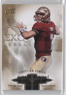 2010 Upper Deck Exquisite Collection Exquisite Rookies #ER-CP - Christian Ponder /99