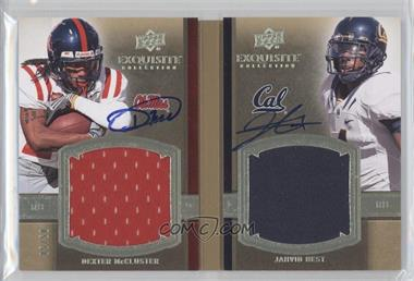 2010 Upper Deck Exquisite Collection Rookie Bookmarks #RBM-DJ - Dexter McCluster, Jahvid Best /50