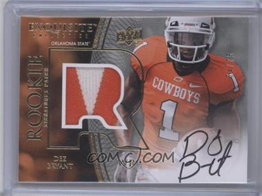2010 Upper Deck Exquisite Collection #100 - Dez Bryant /75