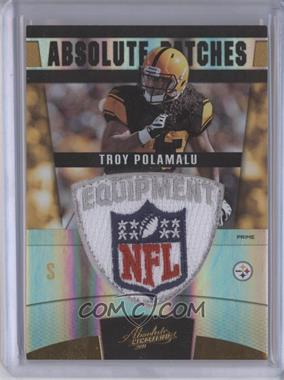 2011 Absolute Memorabilia Absolute Patches Spectrum Prime NFL Shield #37 - Troy Polamalu /1