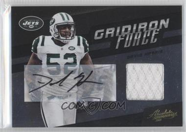 2011 Absolute Memorabilia Gridiron Force Materials Signatures [Autographed] [Memorabilia] #8 - David Harris /10