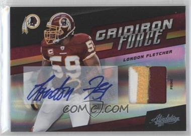 2011 Absolute Memorabilia Gridiron Force Spectrum Materials Prime Signatures [Autographed] [Memorabilia] #19 - London Fletcher /5