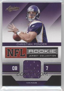 2011 Absolute Memorabilia NFL Rookie Jersey Collection #8 - Christian Ponder