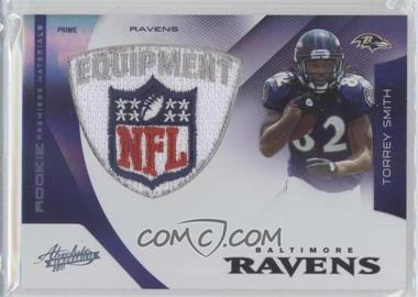2011 Absolute Memorabilia Rookie Premiere Materials Spectrum NFL Shield Prime [Memorabilia] #206 - Torrey Smith /5