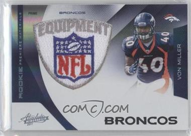 2011 Absolute Memorabilia Rookie Premiere Materials Spectrum NFL Shield Prime [Memorabilia] #216 - Von Miller /5