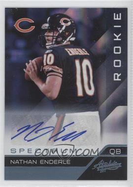 2011 Absolute Memorabilia Spectrum Platinum Autographs [Autographed] #138 - Nathan Enderle /25