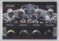 Antonio Gates, Malcom Floyd, Philip Rivers, Vincent Jackson /25
