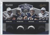 Vincent Jackson, Antonio Gates, Malcom Floyd, Philip Rivers /50