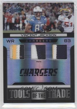 2011 Absolute Memorabilia Tools of the Trade Materials Spectrum Black Triple Prime #5 - Vincent Jackson /5