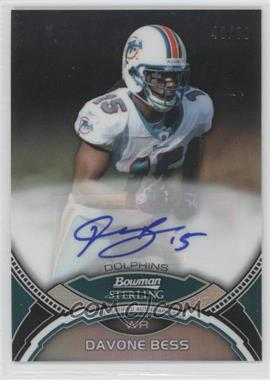 2011 Bowman Sterling - [Base] - Black Refractors #BSA-DB - Davone Bess /50